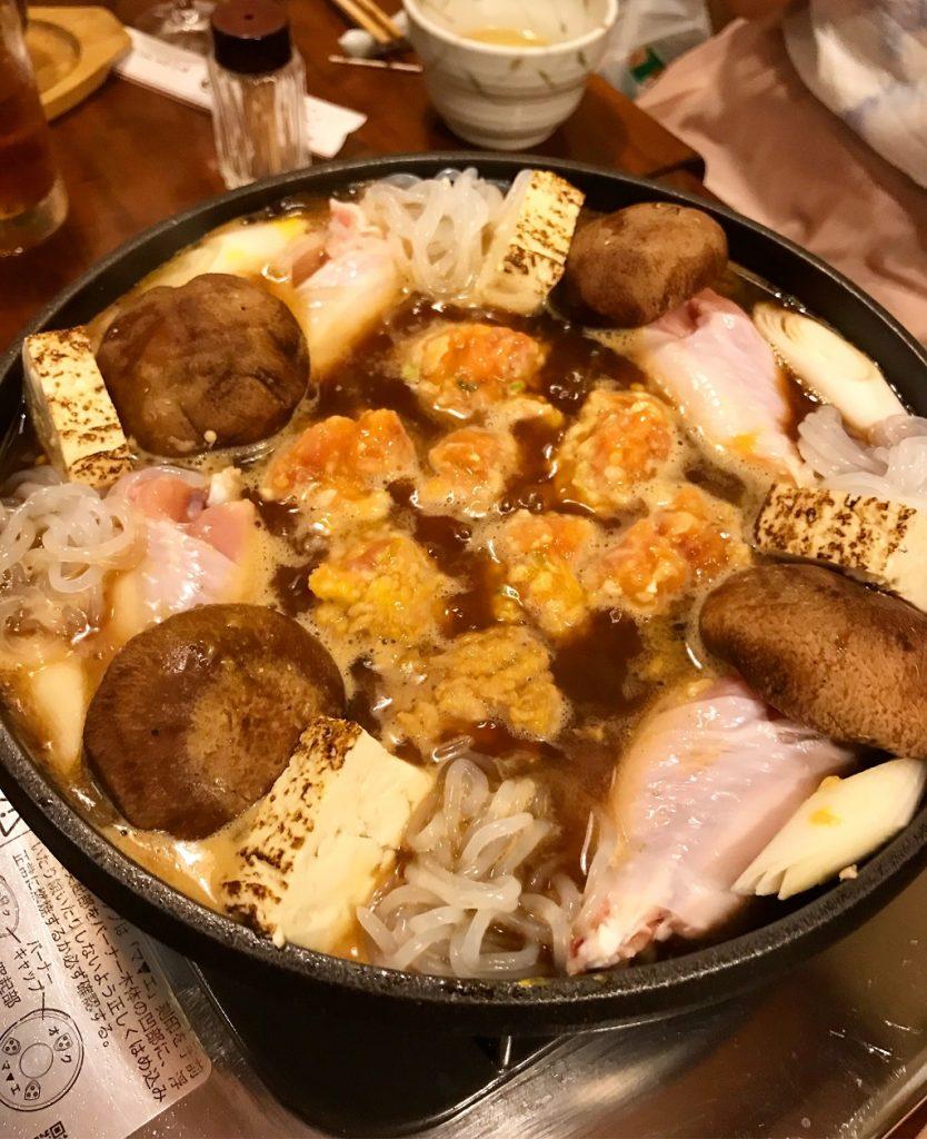 鶏のたたき鍋