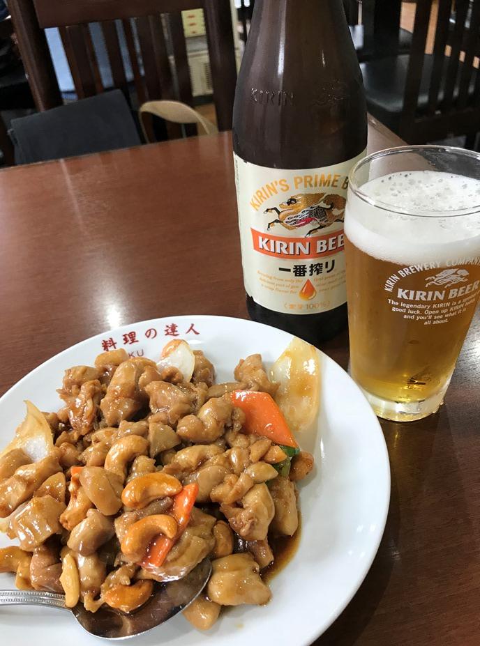 鶏肉とカスh-ナッツ炒め